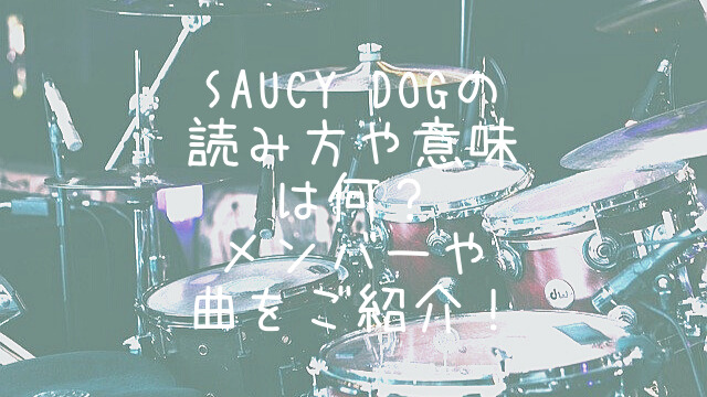 SaucyDog,読み方,曲,メンバー