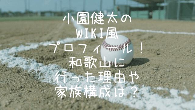 小園健太,wiki,プロフィール,和歌山,家族